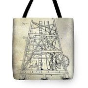 1893 Oil Well Rig Patent Tote Bag