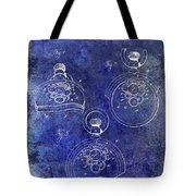 1893 Pocket Watch Patent Blue Tote Bag