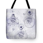 1893 Pocket Watch Patent Blueprint Tote Bag