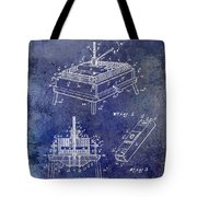 1894 Wine Press Patent Blue Tote Bag