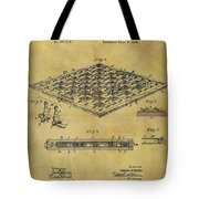 1896 Chess Set Patent Tote Bag