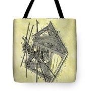 1896 Oil Rig Illustration Tote Bag