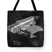 1896 Typewriter Patent Illustration Tote Bag