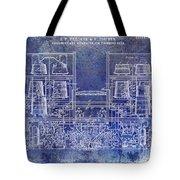 1897 Beer Brewering Patent Blue Tote Bag