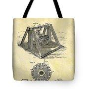 1897 Oil Rig Patent Tote Bag