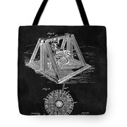 1897 Oil Well Rig Patent Design Tote Bag