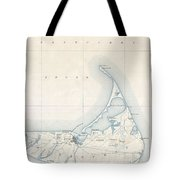 1898 Us Geological Survey Map Of Nantucket Massachusetts Tote Bag
