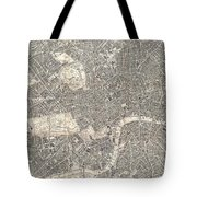 1899 Bacon Pocket Plan Or Map Of London  Tote Bag
