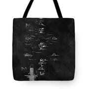 1899 Croquet Game Patent Tote Bag
