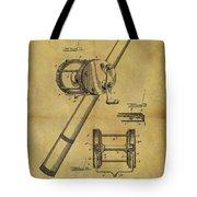 1899 Fishing Reel Patent Tote Bag