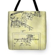 1899 Horse Racing Track Patent Tote Bag