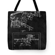 1899 Horse Track Patent Tote Bag