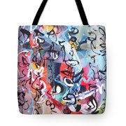 Abstract Calligraphy Tote Bag