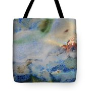 19. Blue Green Brown Abstract Glaze Painting Tote Bag