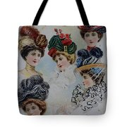 19 Century Ladies Hats The Delineator Early Autumn Hats Tote Bag