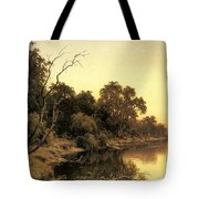 Johnstone Henry James A Backwater Of The River Murray South Australia Henry James Johnstone Tote Bag