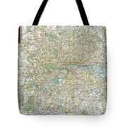 1900 Bacon Pocket Map Of London England  Tote Bag