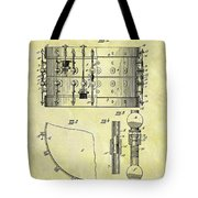1900 Band Drum Patent Tote Bag
