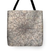 1900 Gall And Inglis' Map Of London And Environs Tote Bag