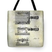 1900 Knife Switch Patent Tote Bag