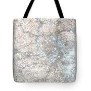 1900 Us Geological Survey Of Boston And Vicinity Massachusetts Tote Bag