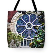 1901 Antique Uab Gothic Stained Glass Window Tote Bag by Kathy Clark