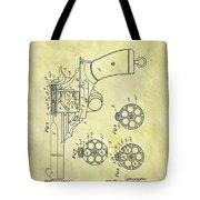 1901 Automatic Revolver Patent Tote Bag