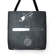 1902 Baseball Bat Patent In Chalk Tote Bag