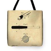 1902 Baseball Bat Patent In Sepia Tote Bag