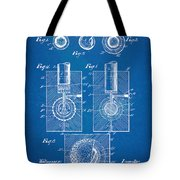1902 Golf Ball Patent Artwork - Blueprint Tote Bag by Nikki Marie Smith