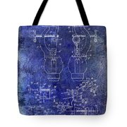 1902 Watchmakers Lathes Patent Blue Tote Bag