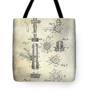 1903 Beer Tap Patent Tote Bag
