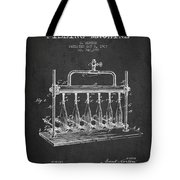 1903 Bottle Filling Machine Patent - Charcoal Tote Bag