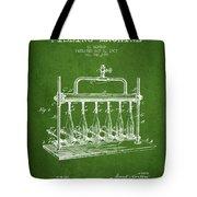 1903 Bottle Filling Machine Patent - Green Tote Bag
