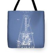 1903 Electric Metronome Patent - Light Blue Tote Bag