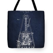 1903 Electric Metronome Patent - Navy Blue Tote Bag