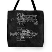 1903 Tractor Blueprint Patent Tote Bag
