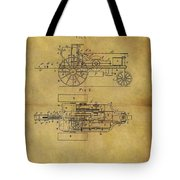 1903 Tractor Patent Tote Bag