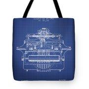 1903 Type Writing Machine Patent - Blueprint Tote Bag
