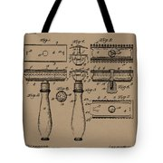 1904 Gillette Razor Patent Drawing Tote Bag