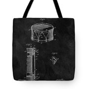 1905 Drum Patent Illustration Tote Bag