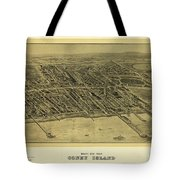 1906 Bird's Eye View Coney Island Tote Bag