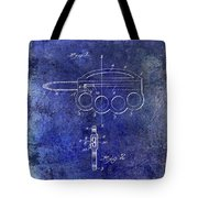 1906 Oyster Shucking Knife Patent Blue Tote Bag