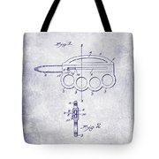 1906 Oyster Shucking Knife Patent Blueprint Tote Bag