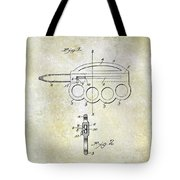 1906 Oyster Shucking Knife Patent Tote Bag
