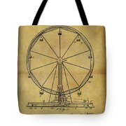 1907 Ferris Wheel Patent Tote Bag