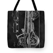 1907 Tractor Blueprint Patent Tote Bag