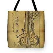1907 Tractor Patent Tote Bag