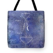 1909 Cork Extractor Patent Blue Tote Bag