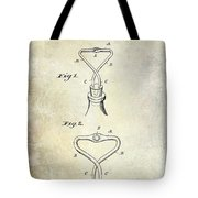 1909 Cork Extractor Patent Tote Bag